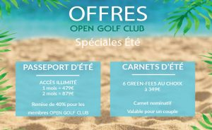 Summer 2021 Special Offers - Open Golf Club