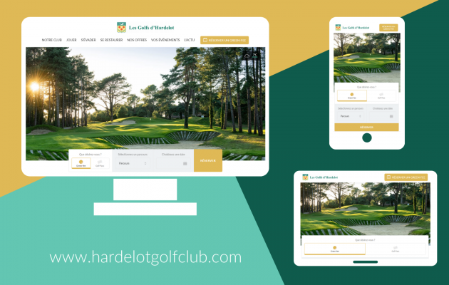 The Golf d'Hardelot website has a new look!