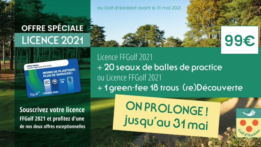 Offre Spéciale – Licence 2021 - Open Golf Club