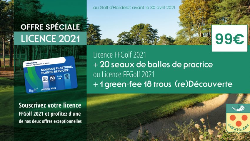 Offre Spéciale – Licence 2021 - Open Golf Club